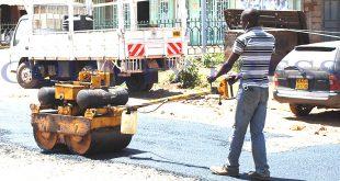 Ongoing repair of Kiserian-Ngong road. Photo/Obegi Malack