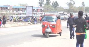 A Tuk Tuk matatu in Kitengela town