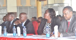 Governor Joseph ole Lenku (second left) with among others nominated senator Mary Seneta  during a one-day forum on education quality in Kajiado County at the Maasai Technical Training Institute recently.