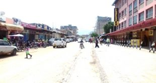 Kajiado town street next to Eastmatt Supermarket.